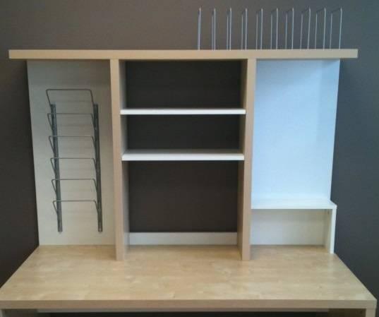 FreelyWheely IKEA Mikeal over desk shelves