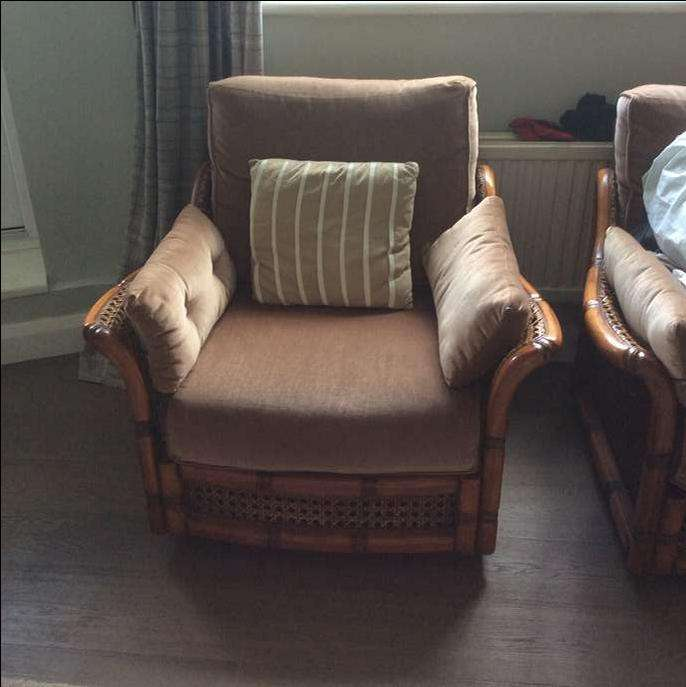 Freelywheely double sofa and 2 matching arm chairs for Matching arm chairs