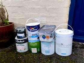 Freecycle Various half tins of paint