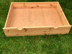 Freecycle Wooden Under bed storage container