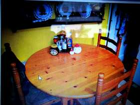 Freecycle Dining table an 3 chairs