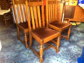 Freecycle 4 Mahogany Dining Chairs