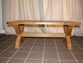 Freecycle Ox-bow pine coffee table