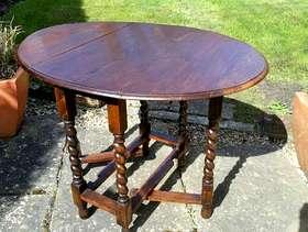 Freecycle Vintage Oak Gate Leg Table