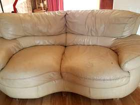 Freecycle 2 seater cream sofa