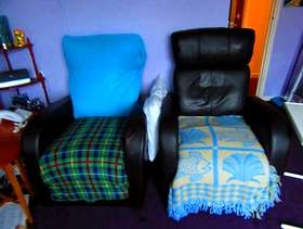Freecycle Two leather recliner chairs