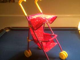 Freecycle Dolls pushchairs 2 child's game high chair furniture