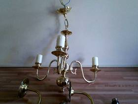 Freecycle Brass effect ceiling and wall lights