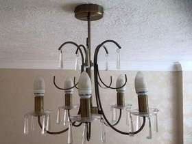 Freecycle Chandelier style light fitting