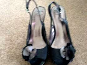 Freecycle Ladies black evening shoes size 39