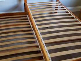 Freecycle Single bed frame with trundle (guest bed)