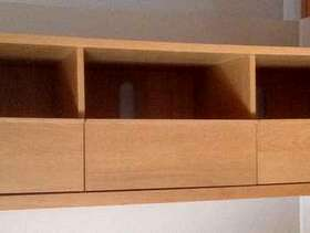 Freecycle Three drawer TV wooden entertainment unit