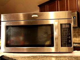Freecycle Stainless steel Whirlpool 2.0 cu. ft. microwave (non-working)