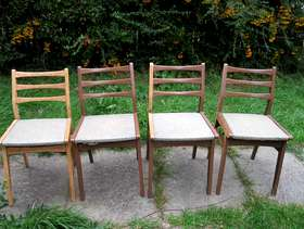 Freecycle 1950's dining chairs -upcycling project