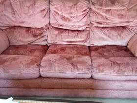 Freecycle 3 seater and 2 seater dusky pink sofas.