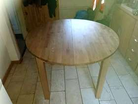 Freecycle Oak dining table