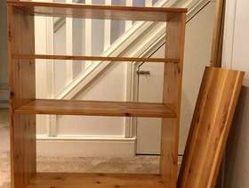 Freecycle Pine bookcase