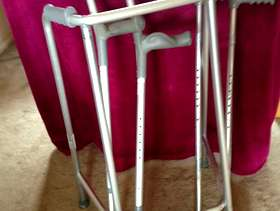 Freecycle Crutches, walking sticks, walking frame