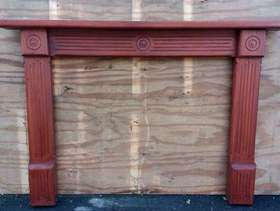 Freecycle Wooden fire surround with mantlepiece