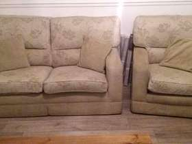 Freecycle Two seater sofa bed and matching chair