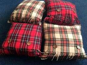 Freecycle Tartan Cushions