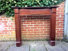 Freecycle Wooden fireplace surround