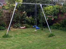 Freecycle Garden swing set for children