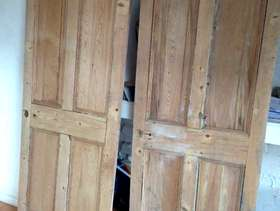 Freecycle Two stripped pine doors