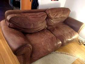 Freecycle Large leather sofa