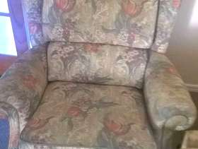 Freecycle Sofa and chairs and double sized bed with mattress