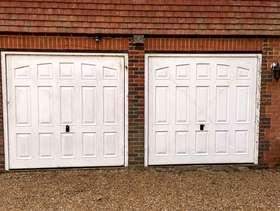 Freecycle Pair of Garador retractable garage doors