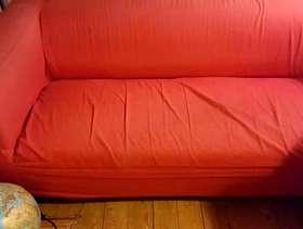 Freecycle Ikea Sofa Red