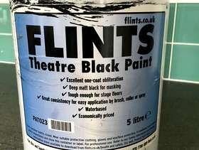 Freecycle Flints Theatre Black Paint 5 litre.