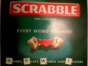 Freecycle Scrabble desktop calendar