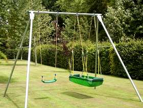 Freecycle TP double swing with basket ball hoop