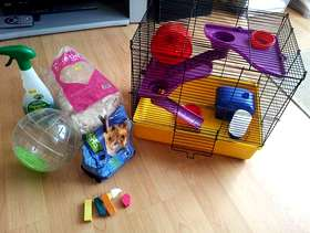 Freecycle Small hamster cage and accessories