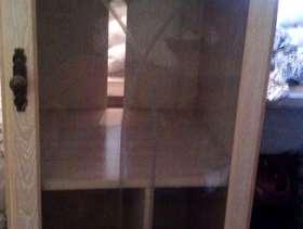 Freecycle Small glass shelf cabinet