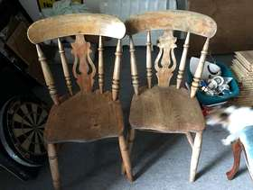 Freecycle 2 nice old kitchen chairs