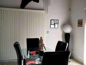 Freecycle 4- Z black leather dining room chairs