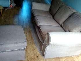 Freecycle Sofa and footstool