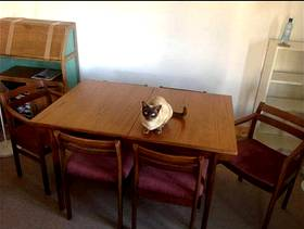 Freecycle Dining table and six chairs