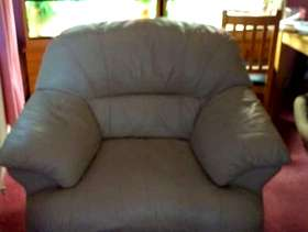 Freecycle Cream real leather armchair
