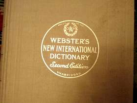 Freecycle Webster's New Unabridged International Dictionary 1957