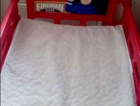 Freecycle Fireman Sam toddler bed with mattress