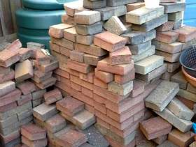 Freecycle Red brick block paving