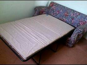Freecycle Two seater fold away bed settee