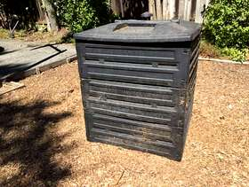 Freecycle Compost Bin - Plastic, outdoor, 1 cubic yard.