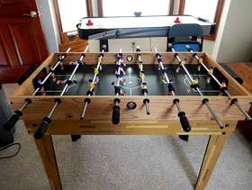 Freecycle Hedstrom Foosball Table / Mini Pool Table combo