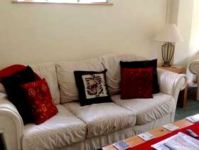 Freecycle Leather sofa and two armchairs