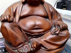 Freecycle Handmade laughing Buddha - large